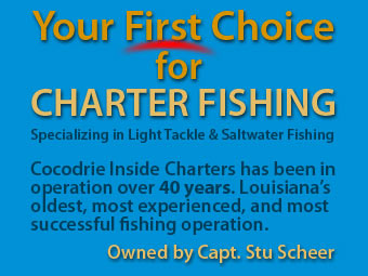 Your First Choice for Chartered Fishing - Specializing in Light Tackle and Saltwater Fishing